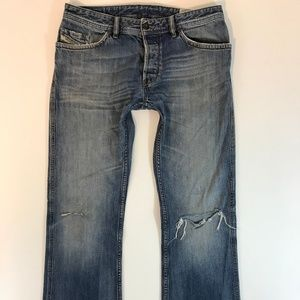 Diesel Industry Mens Ruky Bootcut Jeans Size 32x34